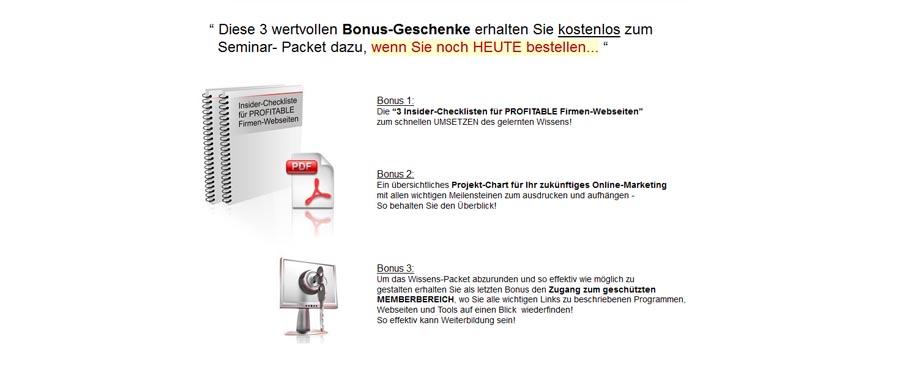 Chris Soemer - Bonus Geschenke 1-3