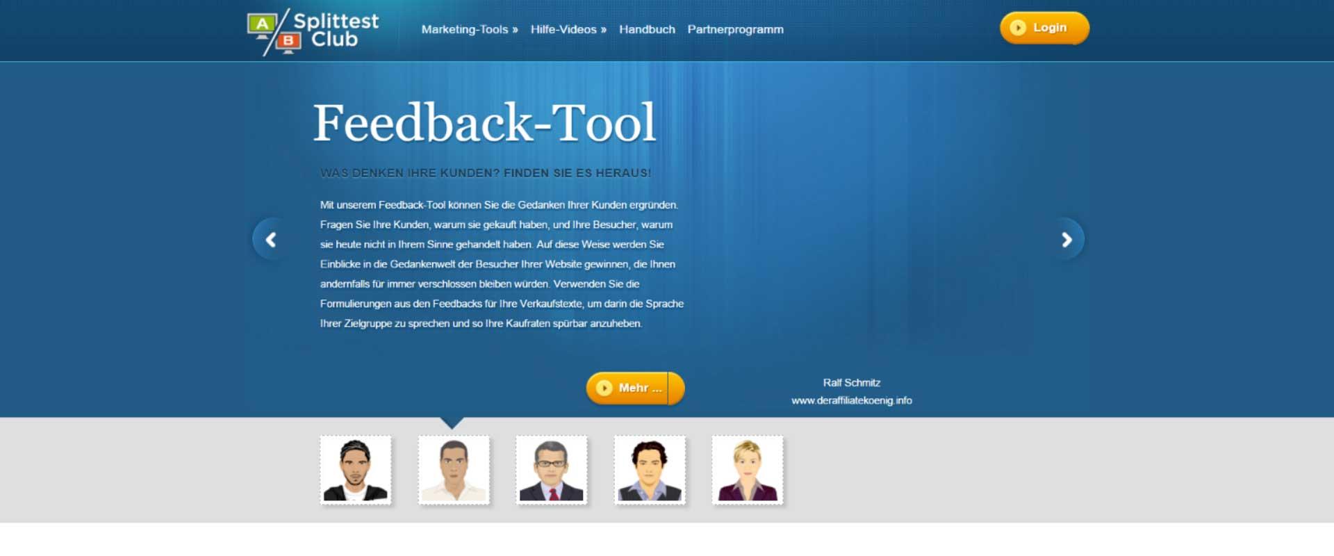 Das Feedback-Tool