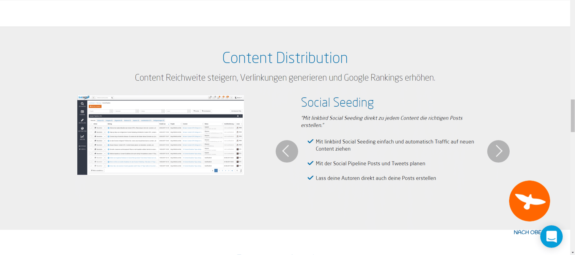 Linkbird - Content Distribution